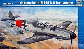 MESSERSCHMITT BF-109 G-6 (LATE VERSION) SKALA 1:24