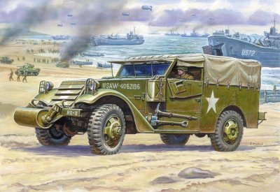 M3 ARMORED SCOUT CAR WITH CANVAS SKALA 1:35