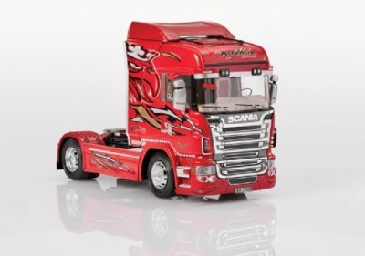 SCANIA R560 HIGHLINE RED GRIFFIN SKALA 1:24