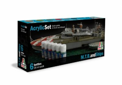 ACRYLIC SET (6 st.) M..T.B AND SHIPS
