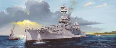 USS NEW YORK BB-34 SKALA 1:350