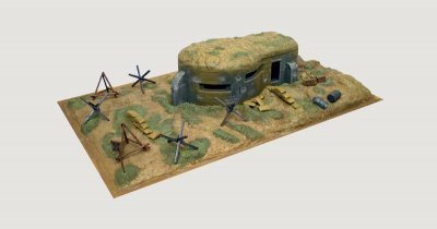 BUNKER AND ACCESSORIES. SKALA 1/72