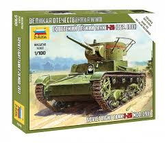 SOVIET LIGHT TANK T-26. SKALA 1/100