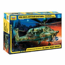 RUSSIAN ATTACK HELICOPTER MIL MI-28N NIGHT HAVOC. SKALA 1/72