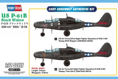 US P-61B BLACK WIDOW SKALA 1/72