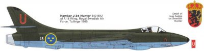 J34 HAWKER HUNTER F.6/FGA.9 - INCL. DECAL SE : 1/48